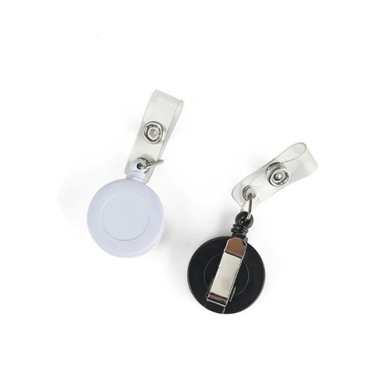 Custom retractable badge reel retractable holder translucent Wintape