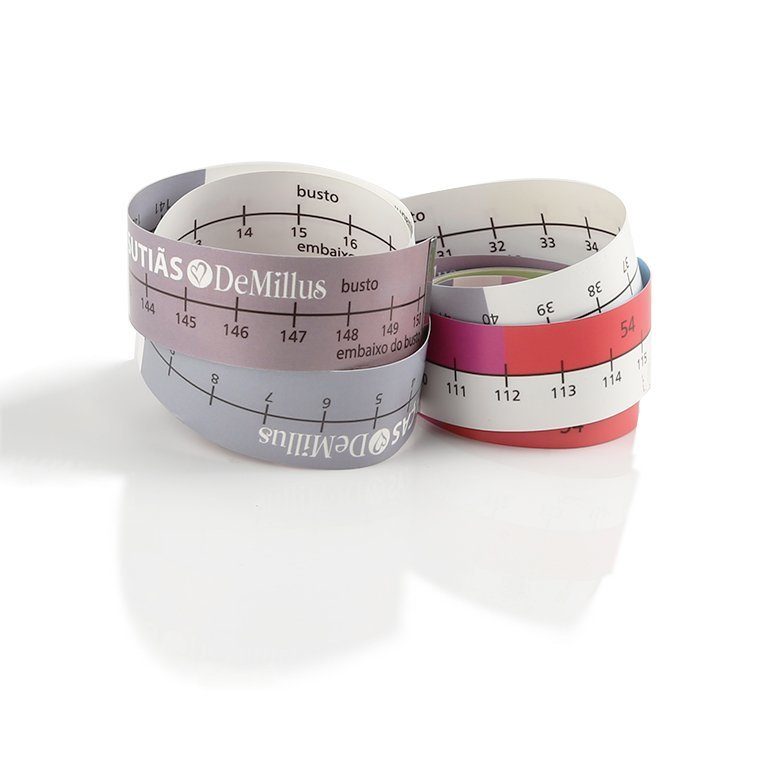 Custom Paper Bra  Measuring Tape