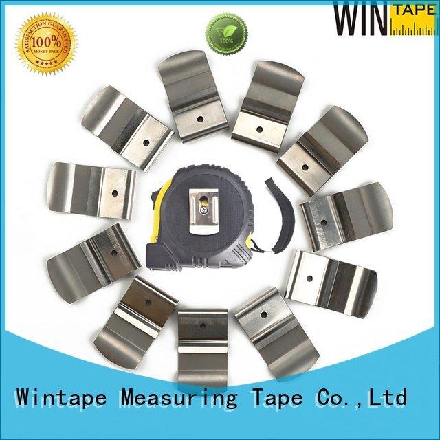 Wintape tape measure holder for belt measuring material spring