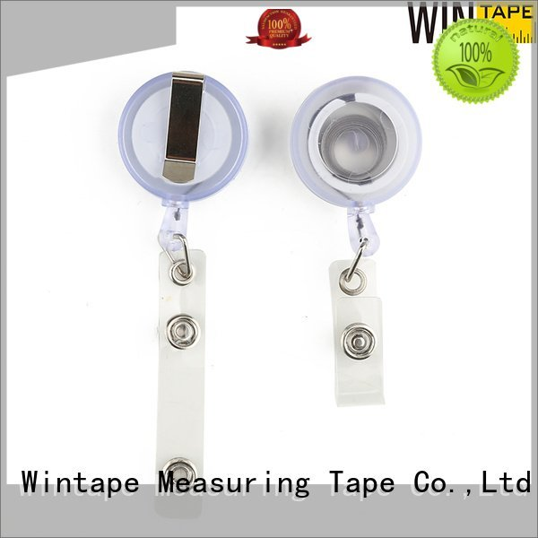 metal badge reel retractable id holder Wintape
