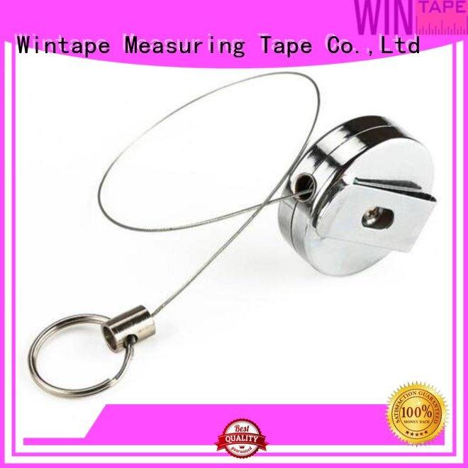 plastic retractable metal retractable badge reel Wintape Brand