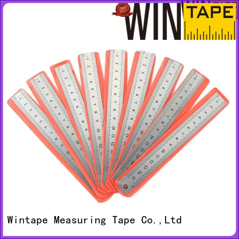 Wintape steel scale ruler handy measuring metricimperial autolock