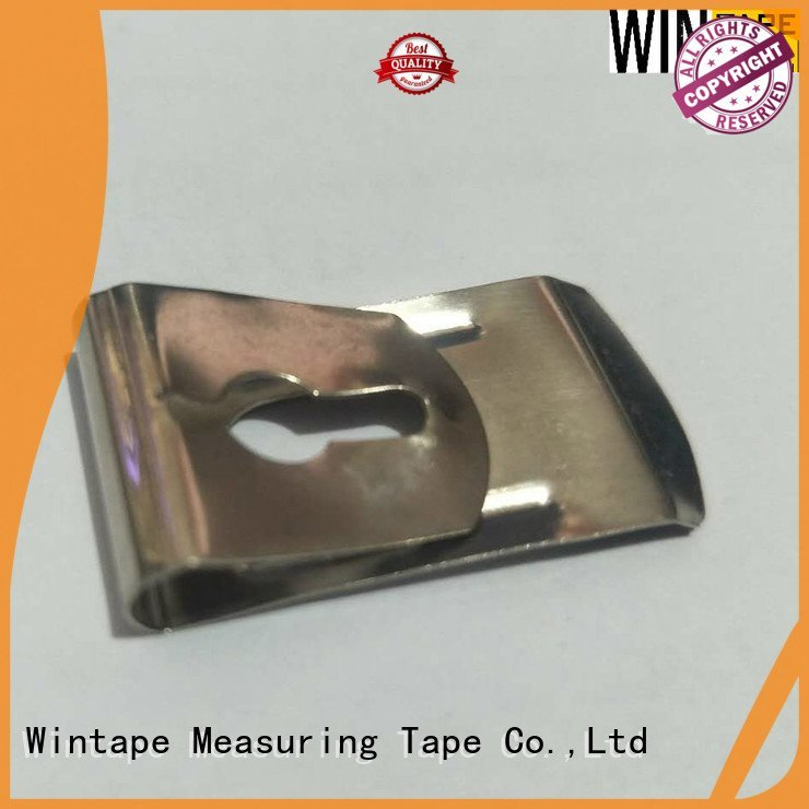 Wintape Brand stainless size tape measure belt clip customized belt