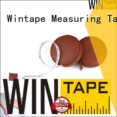 engraved tape measure silver pu covered tape Wintape