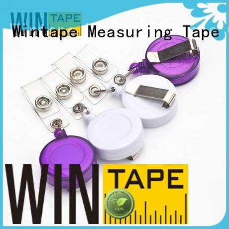 translucent retractable card holder reel badge holders Wintape Brand