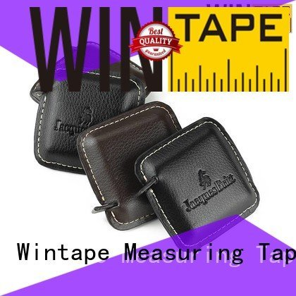 bling black pu metric Wintape engraved tape measure