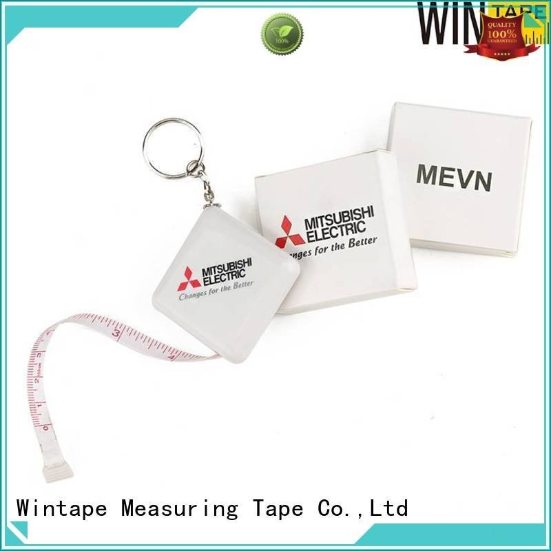 Wintape retractable sewing tape measure covered keychain